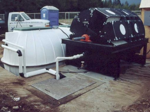 Wastewater treatment plants using biodiscs