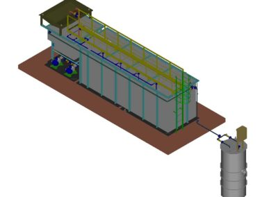 Carbon steel aerobic wastewater treatment plants