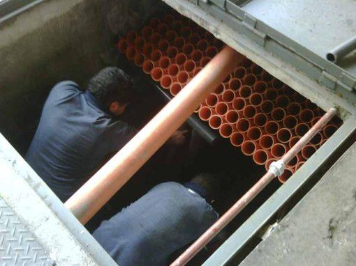 Coalescing plates separator